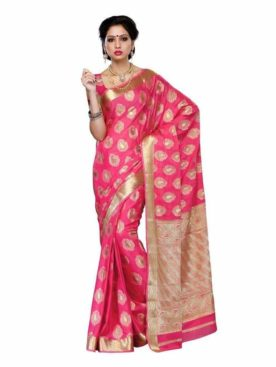 MIMOSA Motif Butta Work Crepe Saree with Blouse in Color Gajjari (3199-2076-gajj) - mimosaindia