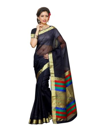 MIMOSA Bollywood Style Net Saree with Blouse in Color Navy Blue (3375-prs8-nvy) - mimosaindia