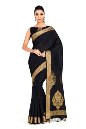 Mimosa Wedding Art Silk saree Kanjivaram Style With Blouse - mimosaindia